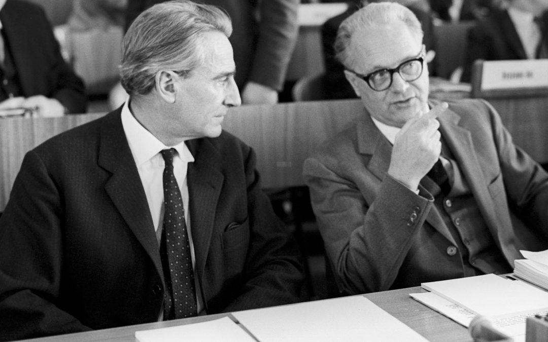 Gilberto Bernardini e Edoardo Amaldi - ©CERN